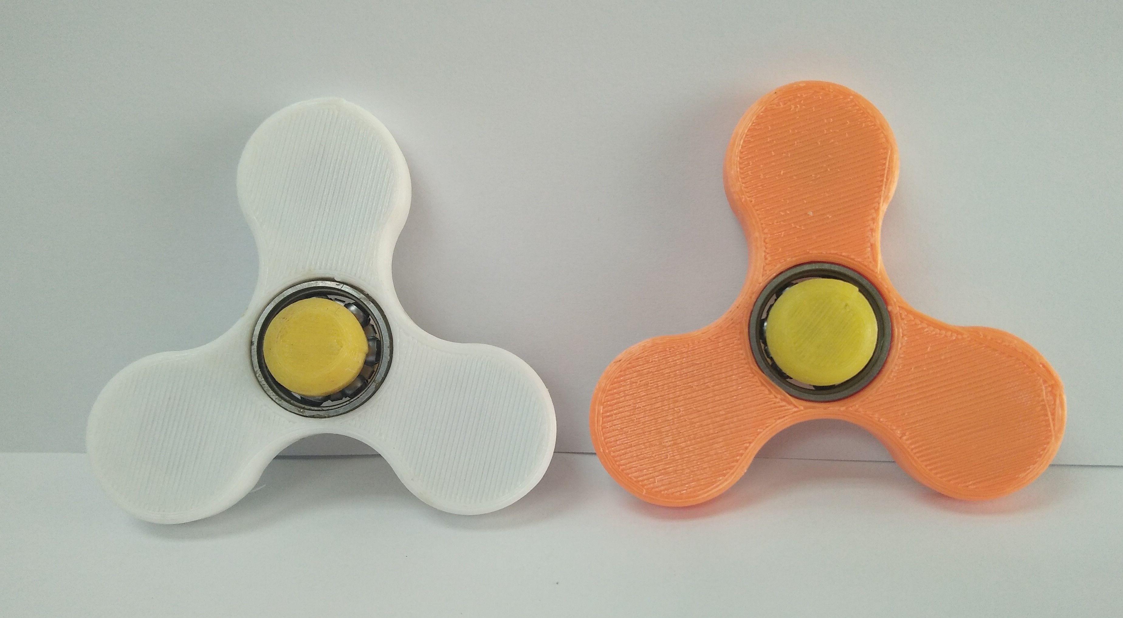 【玩具】 3D列印 指尖陀螺 (白色 橘色)